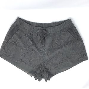 H&M Divided gray lace overlay shorts size M
